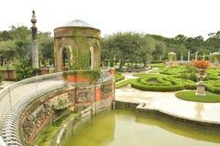 Das Vizcaya-Museum und -gärten Stockbilder