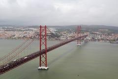 Das 25. von April-Brücke, Lissabon Lizenzfreies Stockbild