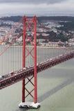 Das 25. von April-Brücke, Lissabon Stockfotografie