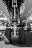 Das vordere Fahrwerk der Flugzeuge - Airbus A380 Lizenzfreie Stockbilder