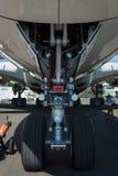 Das vordere Fahrwerk der Flugzeuge - Airbus A380 Stockfotos