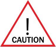 Das Vorsicht-Zeichen Lizenzfreies Stockfoto