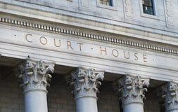 Das Wörter Gerichtsgebäude Lizenzfreies Stockfoto