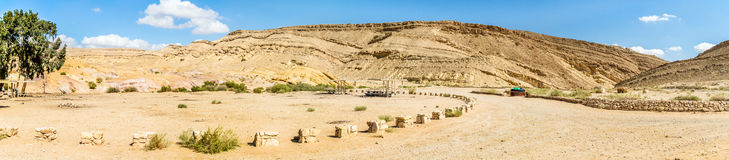Das Wüste Negev Stockfotos