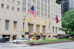 Das Waldorf-Astoriahotel in NYC stockfotos