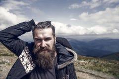 Das Wandern und das Kampieren, das Reisen und der Wanderlust, Friseur, outwear Art stockfotos