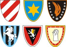 Das Wappen des Ritters lizenzfreie stockfotos