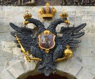 Das Wappen des russischen Reiches Stockfotos