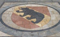 Das Wappen von Bern Stockfoto