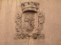 Das Wappen von Madrid kommt von den Mittelalter Lizenzfreies Stockbild
