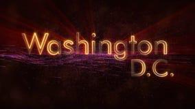Das Washington Gleichstrom--Weiße Haus C - Glänzende Schleifungsstadtnamen-Textanimation lizenzfreie stockfotos