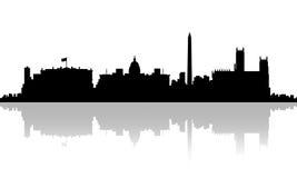 Das Washington Gleichstrom--Weiße Haus C Schattenbild-Skyline Stockfotografie