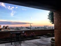 Das Washington Gleichstrom--Weiße Haus C Skyline an der Dämmerung mit rosa Wolken Lizenzfreie Stockbilder