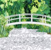 Das Wasser Lily Pond 1899 durch Claude Monet: erwachsene Farbtonseite Lizenzfreie Stockfotos