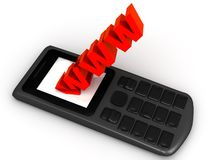 Das Web von Ihrem Telefon Lizenzfreies Stockfoto