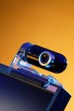 Das Webcam auf dem Überwachungsgerät lizenzfreies stockfoto