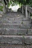 Das Weggebäude im Stein Stockfotos