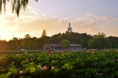 Das weiße Dagoba auf Qionghua-Insel Lizenzfreies Stockbild