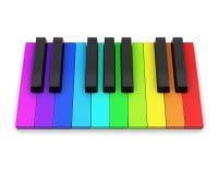 Das weiße Elfenbein und die schwarzen Tasten eines Klaviers Stockfoto
