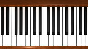Das weiße Elfenbein und die schwarzen Tasten eines Klaviers lizenzfreie abbildung