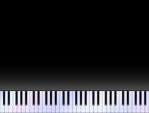 Das weiße Elfenbein und die schwarzen Tasten eines Klaviers Stockbild
