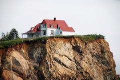 Das Weiße Haus auf der Klippe Stockfotos