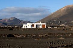 Das weiße Haus, Lanzarote, kanarische Inseln Stockfotos