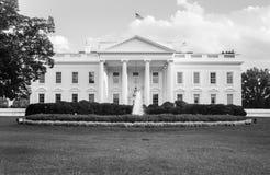 Das Weiße Haus in Schwarzweiss Stockbilder