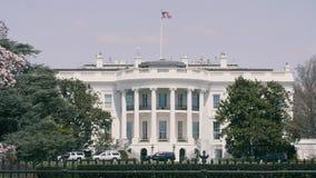 Das Weiße Haus am sonnigen Tag des Washington DC stock video