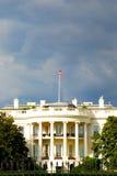Das Weiße Haus vor Regensturm Stockfotografie