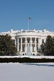 Das Weiße Haus, Winter Lizenzfreie Stockfotografie