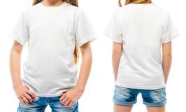 Das weiße T-Shirt des Kindes stockfotografie