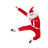 Das Weihnachtsmannspringen Stockbild