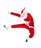 Das Weihnachtsmannspringen Stockfotografie
