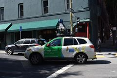 Das Weise Google-` s Streetview erhalten ununterbrochen perfekte Bilder lizenzfreies stockfoto
