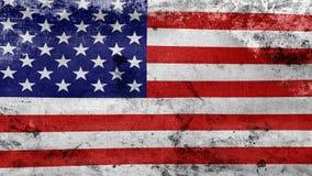 Das Wellenartig bewegen alter USA-Flagge, bereiten für nahtlose Schleife vor stock video