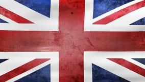 Das Wellenartig bewegen der alten BRITISCHEN Flagge, bereiten für nahtlose Schleife vor stock video footage