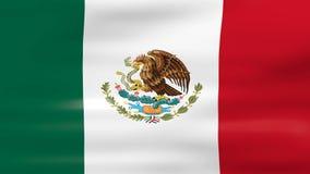 Das Wellenartig bewegen von Mexiko-Flagge, bereiten für nahtlose Schleife vor lizenzfreie abbildung