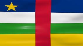Das Wellenartig bewegen von Republik- Zentralafrikaflagge, bereiten für nahtlose Schleife vor stock video footage