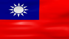 Das Wellenartig bewegen von Taiwan-Flagge, bereiten für nahtlose Schleife vor stock abbildung