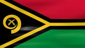 Das Wellenartig bewegen von Vanuatu-Flagge, bereiten für nahtlose Schleife vor stock video footage