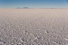 Das Welt-` s größte Salz flach, Salar de Uyuni in Bolivien, fotografiert bei Sonnenaufgang Stockbild