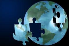 Das Weltpuzzlespiel Lizenzfreies Stockfoto