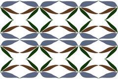 Das Wiederholen lässt Muster, Braungrünblatt des blauen Graus Stockfotografie