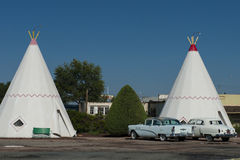 Das Wigwam-Motel in Holbrook USA Lizenzfreie Stockfotografie
