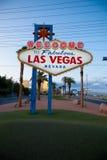 Das Willkommen zu fabelhafter Las Vegas-Leuchtreklame lizenzfreies stockbild