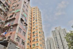 das Wohngebäude im Hong Kong lizenzfreie stockfotografie