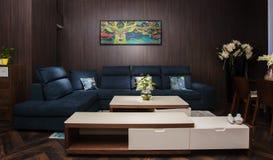 Das Wohnzimmer von modernen chinesischen Familien lizenzfreie stockfotografie
