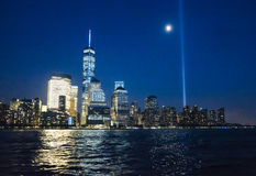 Das World Trade Center nachts Lizenzfreies Stockfoto