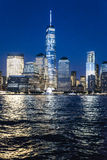Das World Trade Center nachts Stockfoto